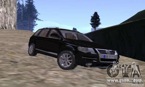 Volkswagen Touareg for GTA San Andreas back view