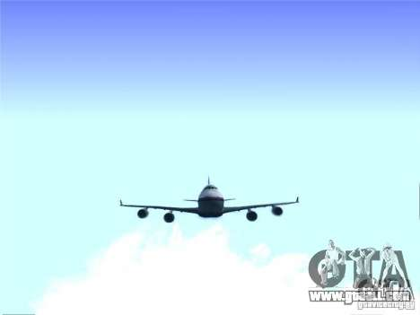 Boeing 747-400 Malaysia Airlines for GTA San Andreas back view
