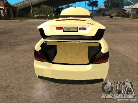 Bmw 135i coupe Police for GTA San Andreas back view
