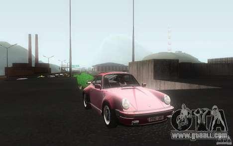 Porsche 911 Turbo 1982 for GTA San Andreas inner view