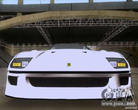 Ferrari F40 for GTA San Andreas side view