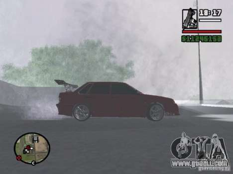 VAZ 2115 TUNING for GTA San Andreas back left view