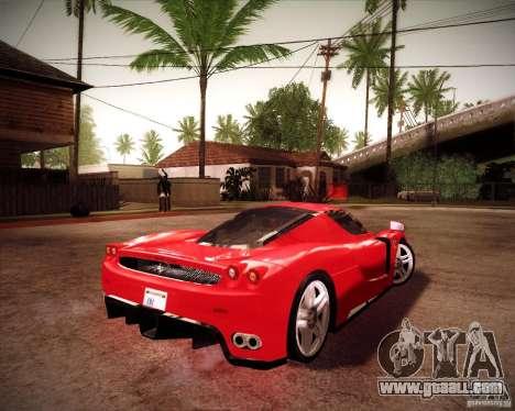 Ferrari Enzo for GTA San Andreas back left view