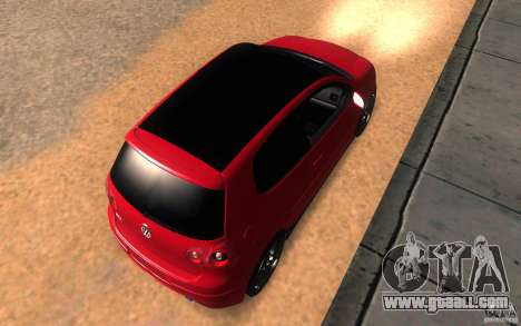 VolksWagen Golf GTI MK5 for GTA San Andreas back view