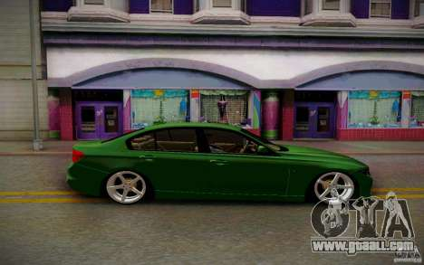 BMW 3 Series F30 Stanced 2012 for GTA San Andreas back view