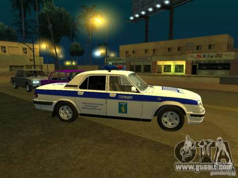 GAZ 31105 Police for GTA San Andreas left view