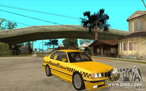 BMW 525tds E34 Taxi for GTA San Andreas back view