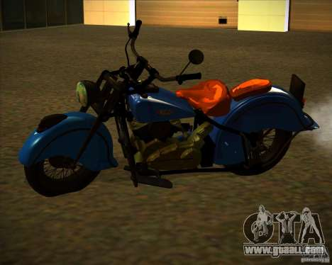 Indian Chief 1948 for GTA San Andreas back left view