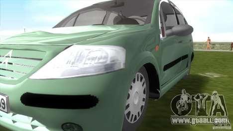 Citroen C3 for GTA Vice City right view