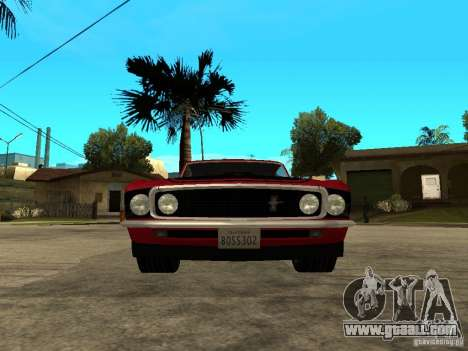 1969 Ford Mustang Boss 302 for GTA San Andreas right view