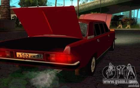 GAZ 3102 Volga Limousine for GTA San Andreas back left view