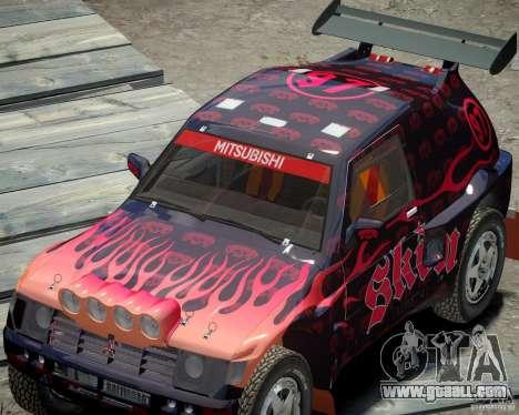 Mitsubishi Pajero Proto Dakar EK86 Vinyl 4 for GTA 4 inner view