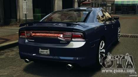 Dodge Charger SRT8 2012 v2.0 for GTA 4 back left view