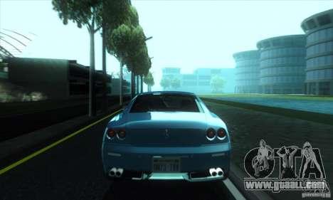 Ferrari 612 Scaglietti for GTA San Andreas back left view