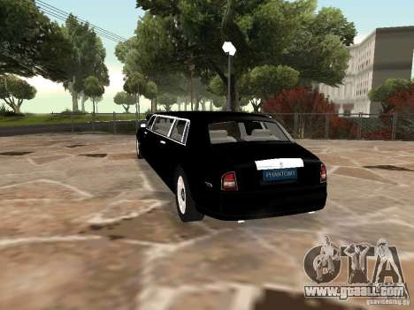 Rolls-Royce Phantom Limousine chauffeur 2003 for GTA San Andreas left view