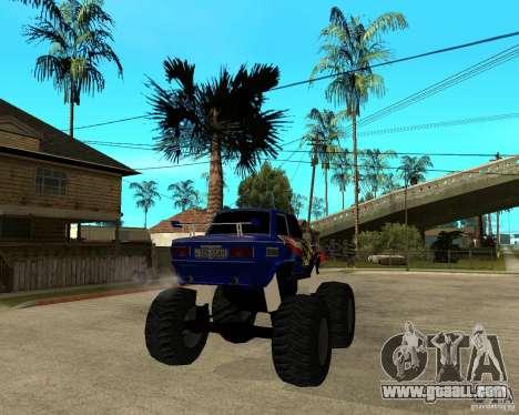 ZAZ MONSTER for GTA San Andreas back left view