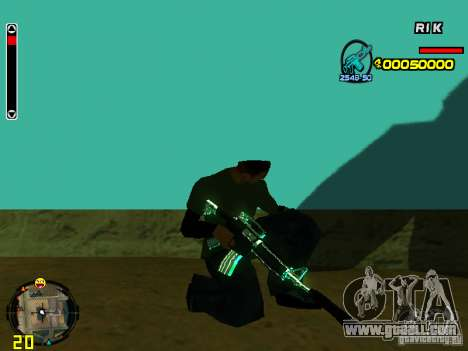 Blue weapons pack for GTA San Andreas seventh screenshot