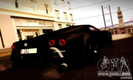Noble M600 Final for GTA San Andreas back view