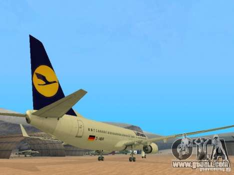 Boeing 737-800 Lufthansa for GTA San Andreas right view