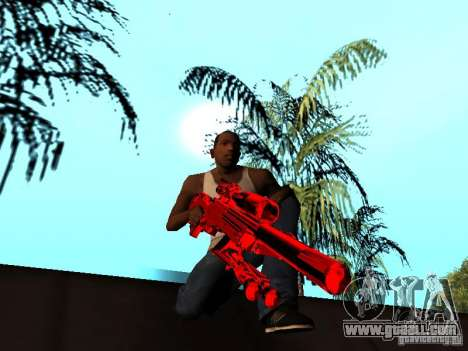 Red Chrome Weapon Pack for GTA San Andreas twelth screenshot