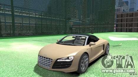 Audi R8 Spyder v10 [EPM] for GTA 4