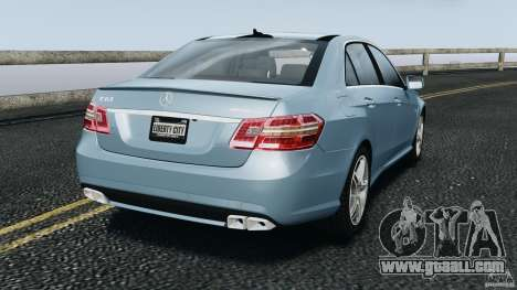 Mercedes-Benz E63 AMG 2010 for GTA 4 back left view