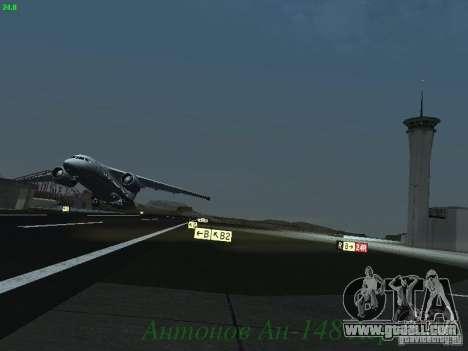 Antonov an-148 Aerosvit Ukrainian Airlines for GTA San Andreas inner view