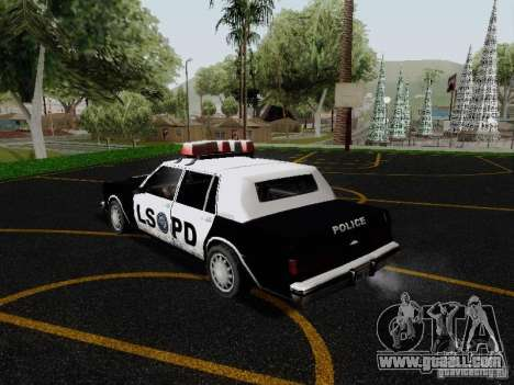 Greenwood Police LS for GTA San Andreas back left view
