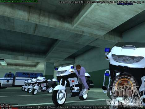 CopBike for GTA San Andreas right view