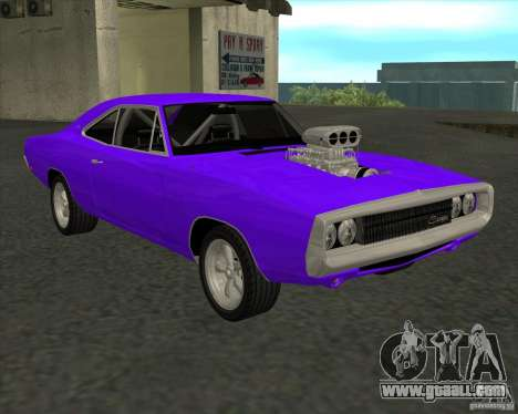 Dodge Charger RT 1970 The Fast and The Furious for GTA San Andreas back left view