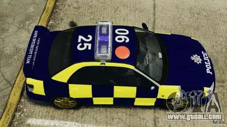 Subaru Impreza British ANPR [ELS] for GTA 4 right view