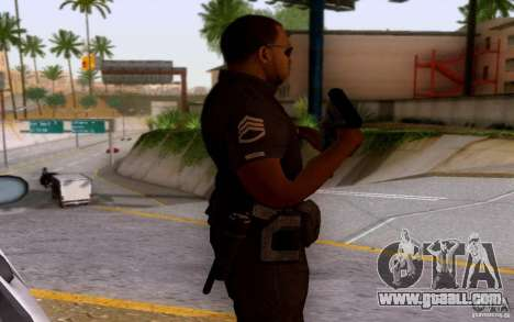 A police officer from CoD: BO2 for GTA San Andreas third screenshot