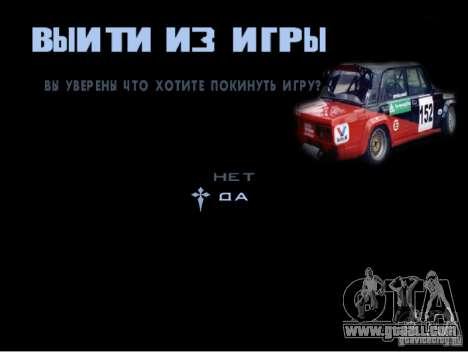 The new game menu for GTA San Andreas fifth screenshot