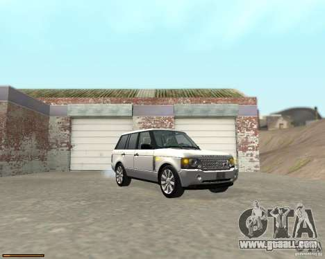Land Rover Range Rover Supercharged 2008 for GTA San Andreas back view