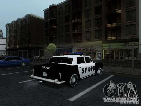 Stafford Police SF for GTA San Andreas back left view