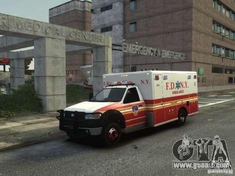 Ford F-350 Ambulance FDNY for GTA 4