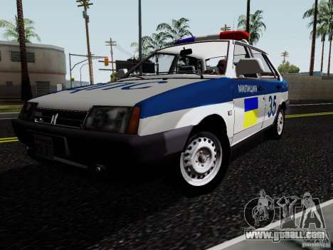 VAZ 21099, police for GTA San Andreas right view