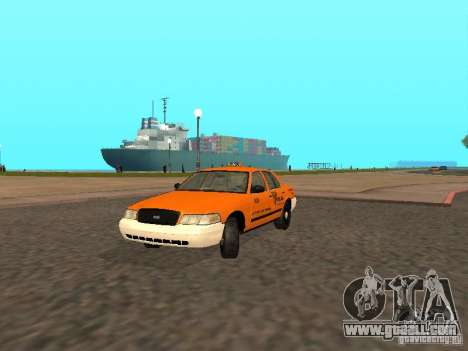 Ford Crown Victoria San Francisco Cab for GTA San Andreas left view
