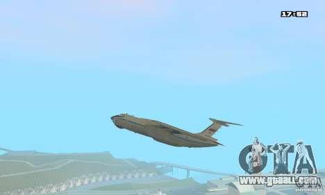 Ilyushin Il-76 MD for GTA San Andreas back left view