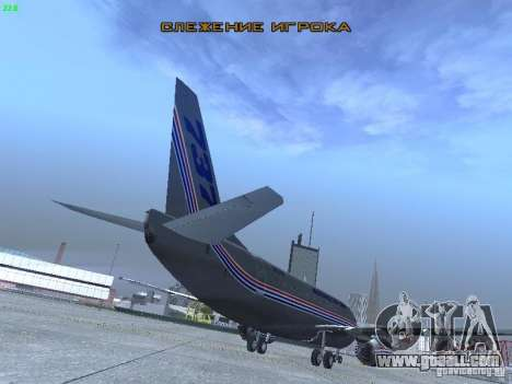 Boeing 737-500 for GTA San Andreas back view
