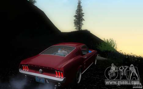 Ford Mustang 1967 American tuning for GTA San Andreas right view