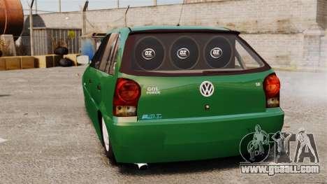Volkswagen Gol G4 Edit for GTA 4 back left view
