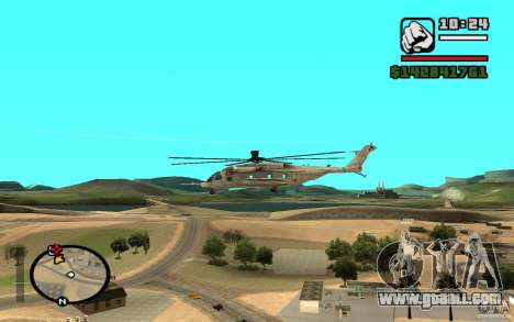 Sikorsky MH-53 with closed hatch for GTA San Andreas right view