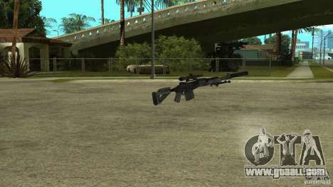 MK14 EBR with a silencer for GTA San Andreas second screenshot