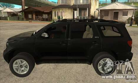 Toyota Sequoia for GTA San Andreas left view