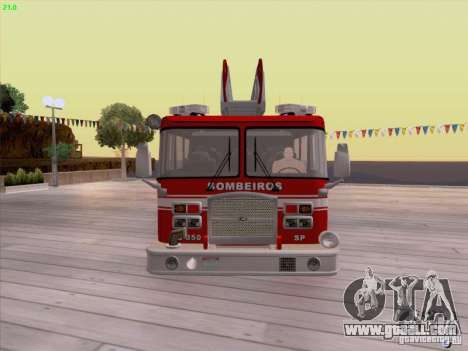 Camiao Dos Bombeiros ABE CBMESP for GTA San Andreas left view