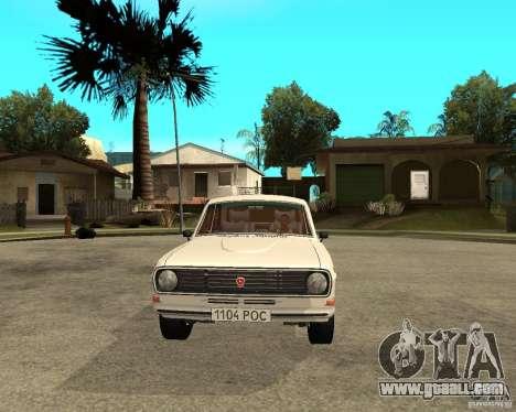Volga GAZ 24-10 051 for GTA San Andreas back view