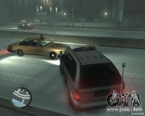 LCPD Minivan for GTA 4 back left view