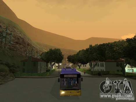 Trolleybus LAZ e-183 for GTA San Andreas right view