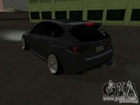 Subaru Impreza STI hellaflush for GTA San Andreas back left view